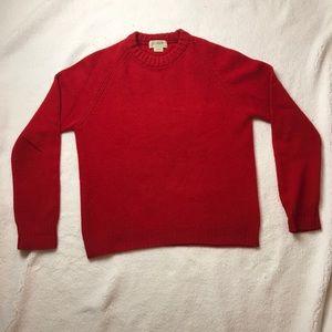 J.Crew 100% wool crewneck sweater red size medium.